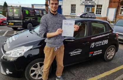 Another driving test pass